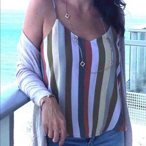 Striped sleeveless cami